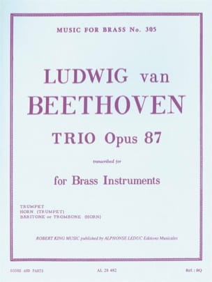 BEETHOVEN - Trio Opus 87 - Sheet Music - di-arezzo.co.uk