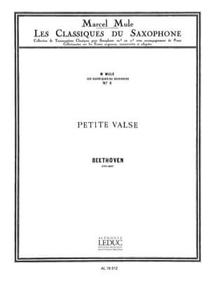 Petite Valse BEETHOVEN Partition Saxophone - laflutedepan
