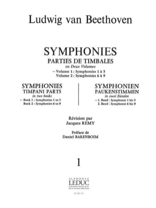 Symphonies Volume 1 BEETHOVEN Partition Timbales - laflutedepan