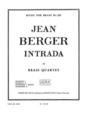 Jean Berger - Intrada - Partition - di-arezzo.fr