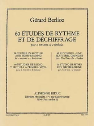 Gérard Berlioz - 60 Rhythm Studies - Sheet Music - di-arezzo.co.uk
