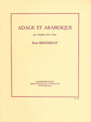 Adage Et Arabesque Berthelot Partition Saxophone - laflutedepan