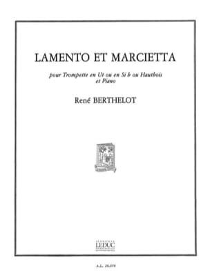 Lamento et marcietta - René Berthelot - Partition - laflutedepan.com