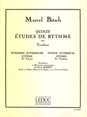 Marcel Bitsch - 15 Rhythm Studies - Sheet Music - di-arezzo.co.uk