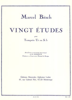Marcel Bitsch - 20 Studies - Sheet Music - di-arezzo.co.uk