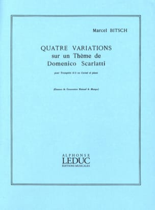 Marcel Bitsch - 4 Variations D. Scarlatti - Sheet Music - di-arezzo.co.uk