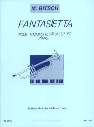 Fantasietta Marcel Bitsch Partition Trompette - laflutedepan