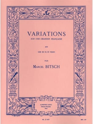 Marcel Bitsch - Variations On A French Song - Partition - di-arezzo.co.uk
