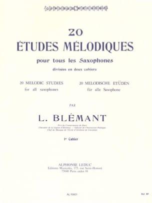 L. Blémant - 20 Etudes Mélodiques Volume 1 - Partition - di-arezzo.fr