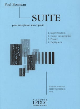 Paul Bonneau - Suite - Partition - di-arezzo.fr