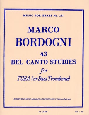 Marco Bordogni - 43 Bel Canto Studies - Partition - di-arezzo.fr