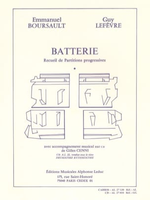 Batterie - Recueil de Partitions Progressives laflutedepan