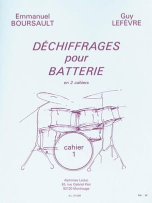 BOURSAULT - LEFEVRE - Decryptions for Battery Volume 1 - Sheet Music - di-arezzo.com