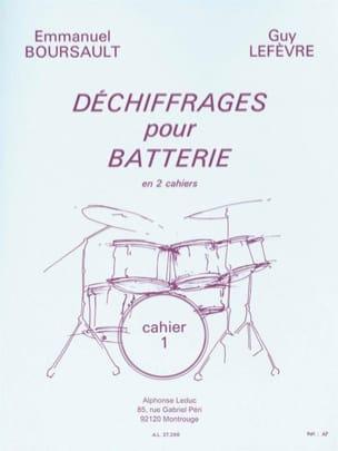 BOURSAULT - LEFEVRE - Déchiffrages Pour Batterie Volume 1 - Partition - di-arezzo.fr