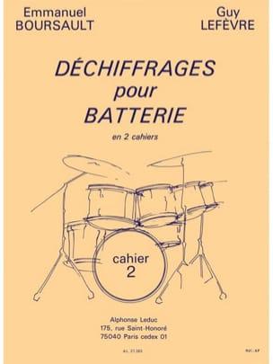 Déchiffrages Pour Batterie Volume 2 - laflutedepan.com