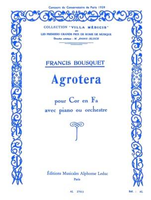 Agrotera - Francis Bousquet - Partition - Cor - laflutedepan.com
