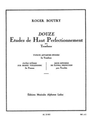 Roger Boutry - 12 Advanced Studies - Sheet Music - di-arezzo.com