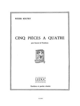 Roger Boutry - 5 Pièces à quatre - Partition - di-arezzo.fr