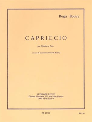 Roger Boutry - caprice - Sheet Music - di-arezzo.com