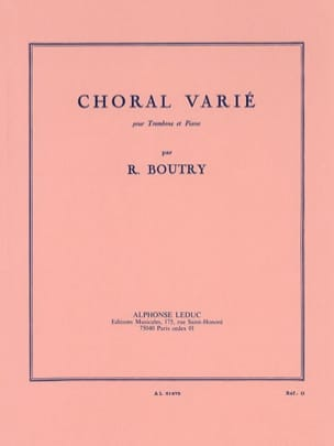 Roger Boutry - Varied Choral - Sheet Music - di-arezzo.co.uk