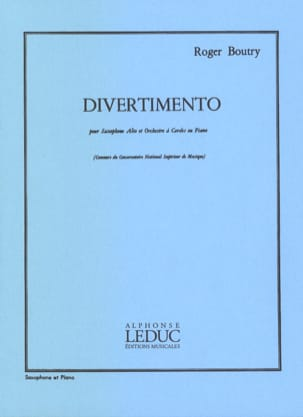 Roger Boutry - Divertimento - Partition - di-arezzo.fr