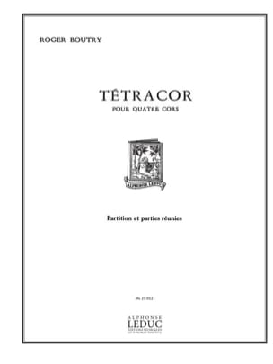 Roger Boutry - Tetracor (Score - Parts) - Sheet Music - di-arezzo.co.uk