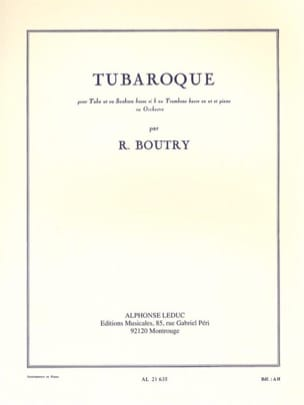 Tubaroque Roger Boutry Partition Tuba - laflutedepan