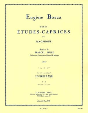 Eugène Bozza - 12 Studies-Caprices - Sheet Music - di-arezzo.com
