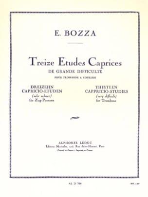 13 Etudes caprices - Eugène Bozza - Partition - laflutedepan.com
