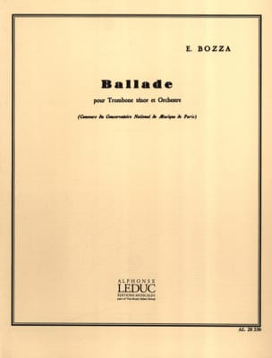 Eugène Bozza - Ballade - Partition - di-arezzo.fr