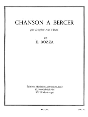 Eugène Bozza - Song in Bercer - Sheet Music - di-arezzo.com