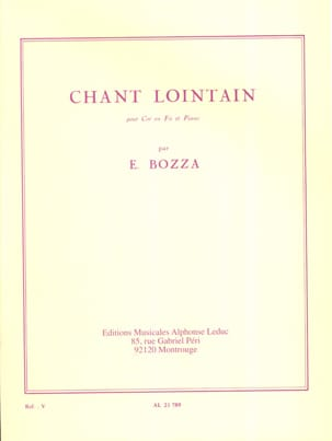 Chant Lointain Eugène Bozza Partition Cor - laflutedepan