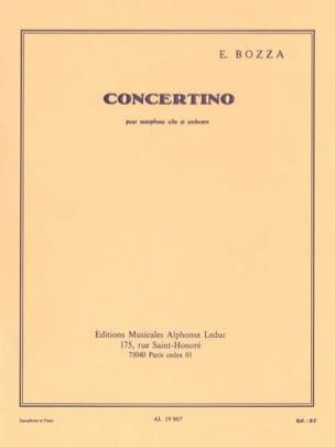 Eugène Bozza - Concertino - Partition - di-arezzo.fr
