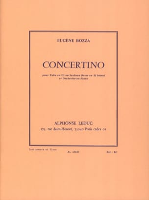Eugène Bozza - concertino - Partitura - di-arezzo.es
