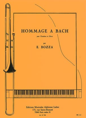 Eugène Bozza - Tribute to Bach - Sheet Music - di-arezzo.com