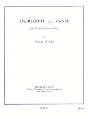 Eugène Bozza - Impromptu And Dance - Sheet Music - di-arezzo.co.uk