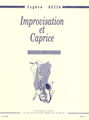 Eugène Bozza - Improvisation and Caprice - Sheet Music - di-arezzo.co.uk