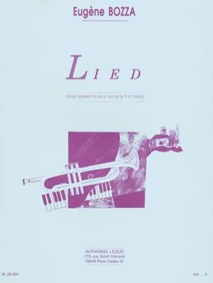 Lied - Eugène Bozza - Partition - Trompette - laflutedepan.com