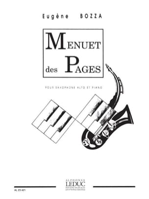Eugène Bozza - Menuet Des Pages - Partition - di-arezzo.fr