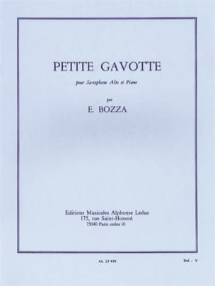 Eugène Bozza - Petite Gavotte - Partition - di-arezzo.fr