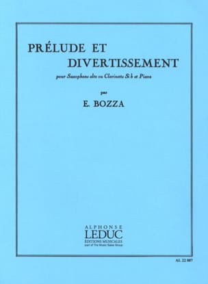 Eugène Bozza - Prelude and Entertainment - Sheet Music - di-arezzo.co.uk