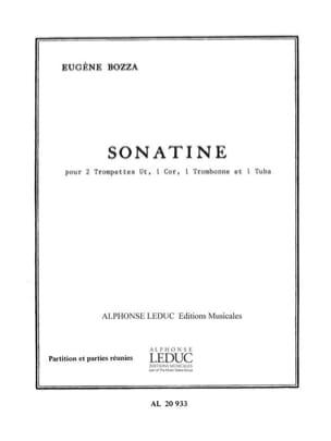Sonatine - Eugène Bozza - Partition - laflutedepan.com