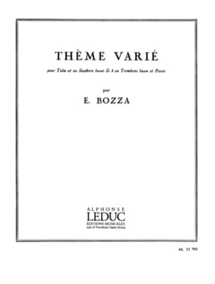Eugène Bozza - Varied Theme - Sheet Music - di-arezzo.com