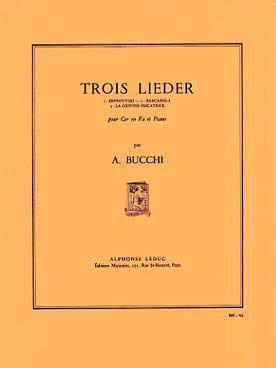 3 Lieder - Annibale Bucchi - Partition - Cor - laflutedepan.com