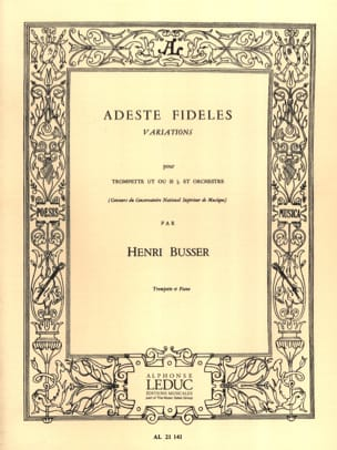 Henri Busser - Adeste fideles - Sheet Music - di-arezzo.co.uk