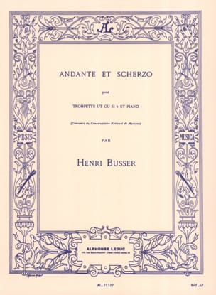 Henri Busser - Andante And Scherzo Opus 44 - Sheet Music - di-arezzo.co.uk