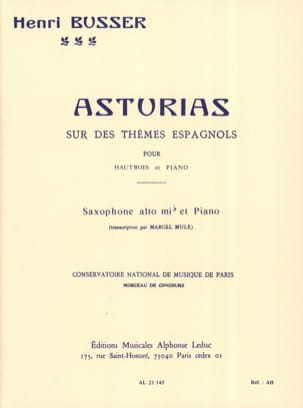 Henri Busser - Asturias - Sheet Music - di-arezzo.co.uk