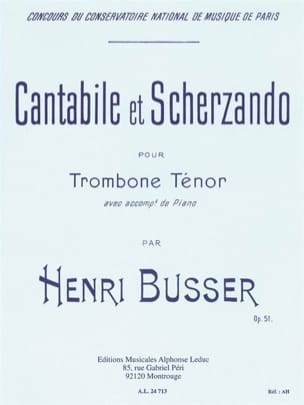 Henri Busser - Cantabile And Scherzando Opus 51 - Sheet Music - di-arezzo.com