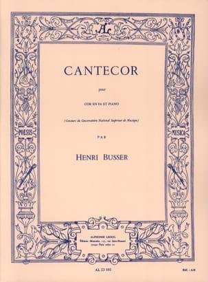 Henri Busser - Cantecor - Sheet Music - di-arezzo.com