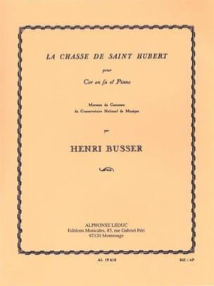 Henri Busser - La Chasse de Saint Hubert - Partition - di-arezzo.fr